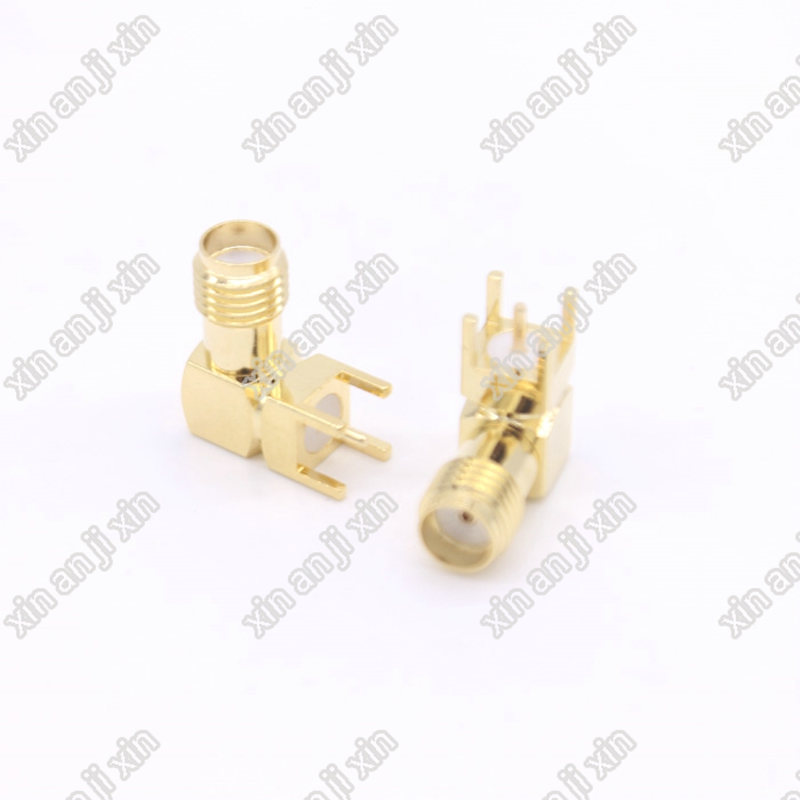 The factory sales 10PCS SMA Female RIGHT Angle Solder PCB Mount RF Connectors SMA Female Jack Receptacle Solder fast ship