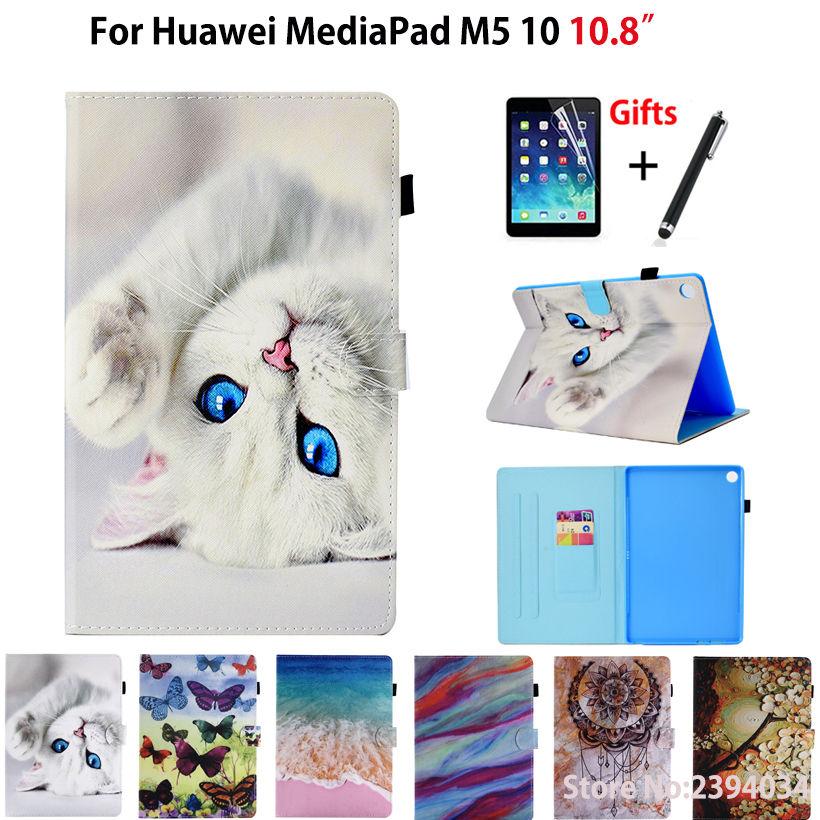 Cartoon Cat Pattern Case For Huawei Mediapad M5 10 10.8