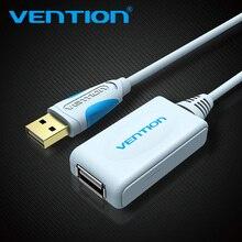 Vention USB 2,0 удлинитель с усилителем 5 м 10 м кабель 15FT USB штекерным Тип Женский USB кабель для ПК Мышь U диск веб-камера