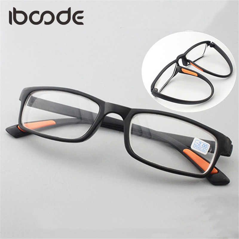 9ff36dbc4ad iboode TR90 Myopic Glasses Ultra Light Flexible Myopia Eyeglasses Women Men  Short Sight Lens Eyewear Full