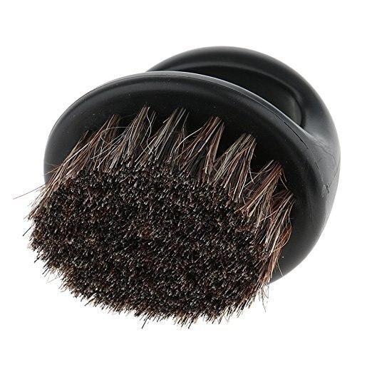Pro Hairdresser Dust Brush Anti Static Boar Bristle Ring Beard Comb Salon Hair Sweep Brushes Shaving Facial Men's Mustache Brush 2
