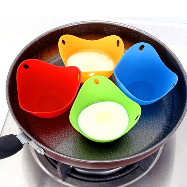 Hifuar 4 sztuk/zestaw jajo silikonowe kłusownik kłusownictwo strąki jajko formy miska pierścienie kuchenka kocioł kuchnia akcesoria do gotowania naleśnikarka