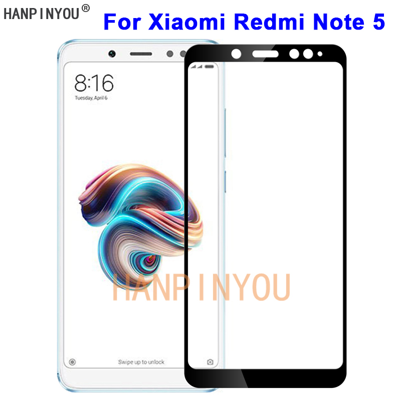 For Xiaomi Redmi Note 5 AI Dual Camera 5.99 9H Hardness 2.5D Full Cover Toughened Tempered Glass Film Screen Protector Guard
