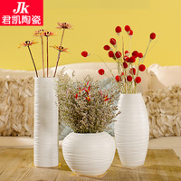 Forest Jingdezhen Ceramic Vase Modern fashion living room European style home accessories white porcelain table ornaments