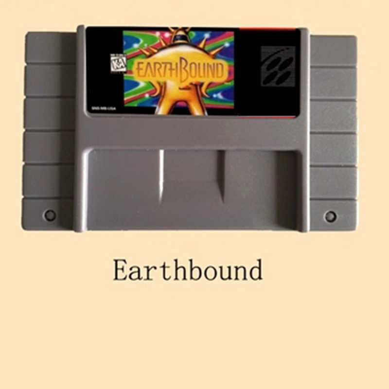 Earthbound 16 bit Big Gray Game Card For USA NTSC Game Player