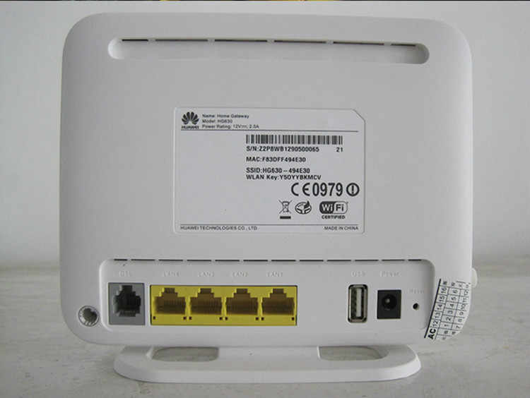 Detail Feedback Questions about Huawei HG630 Wireless 300Mbps ADSL