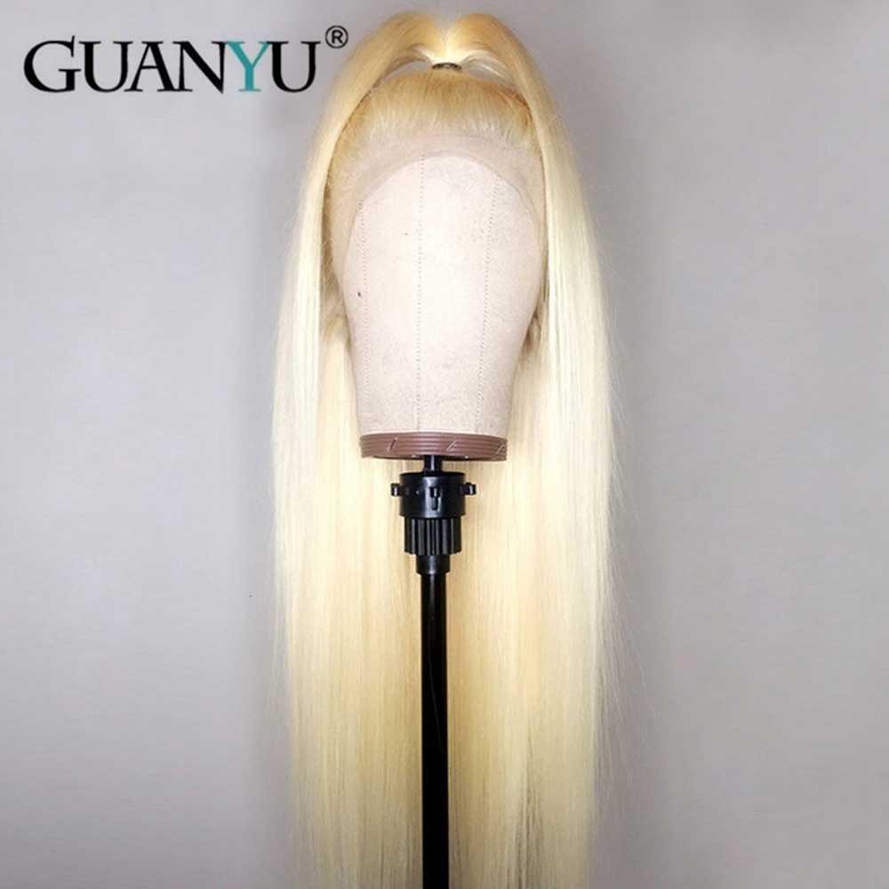180% Плотность 613 блонд Кружева передние парики с волосами младенца для женщин бразильские Remy прямые кружева передние человеческие волосы парики предварительно сорвал