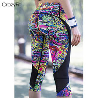 Women Professional Running Tights Compression Shorts Night Running Sports Fitness Cropped Women S Tights Leggings Yarn