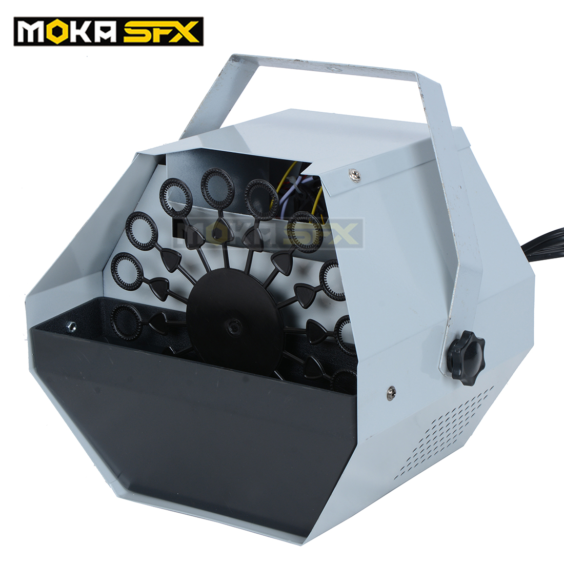 4pcs / lot Stage Mini 60w Machine soufflant des bulles Effets Equpiment Télécommande Disco Auto Blower Bubble Machine