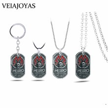 PC Game Metro Exodus 2033 Necklace Dog Tag Pendant Metal Chain Men Necklaces Vintage Charm Gifts for Kids Games Jewelry kolye game metro 2033 keychain letter metro exodus skull dog tag pendant key chain for men car keyring llaveros jewelry