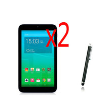 "3in1 2x Clear LCD Screen Protector Film Schutz Film Guards + 1x Stylus Stift Für ALCATEL ONE Touch POP 7 s P330X 7 ""Tablet(China)"