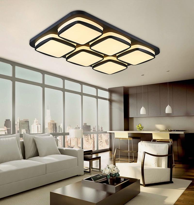 squarerectangle modern led ceiling lights plafondlamp lamp bedroom lamp living room balcony light home lighting fixtures ceiling wall lights bedroom