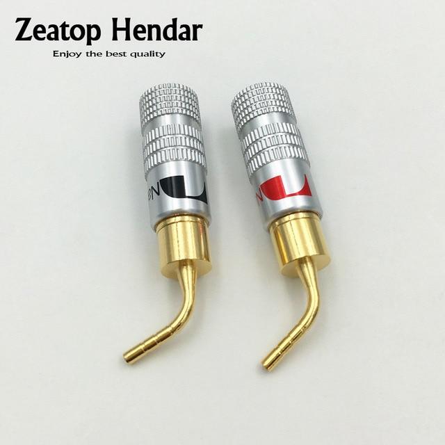 100pcs High Quality New 24K Gold Nakamichi Speaker Pin 2mm Banana ...