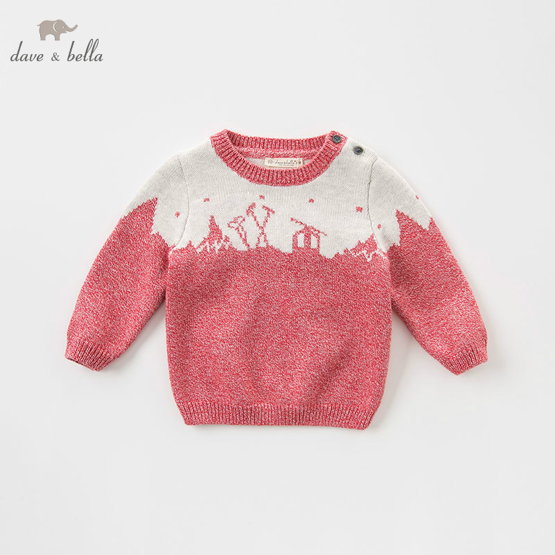 DB8671 dave bella autumn knitted sweater infant baby unisex long sleeve pullover kids toddler tops children knitted sweater dickens c a tales of two cities