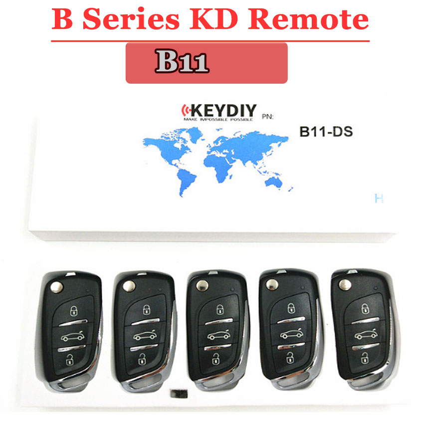 Free Shipping (5pcs/lot)KD900 Remote Key B11 3 Button B Series Remote Control For URG200 KD900 KD900+remote Master