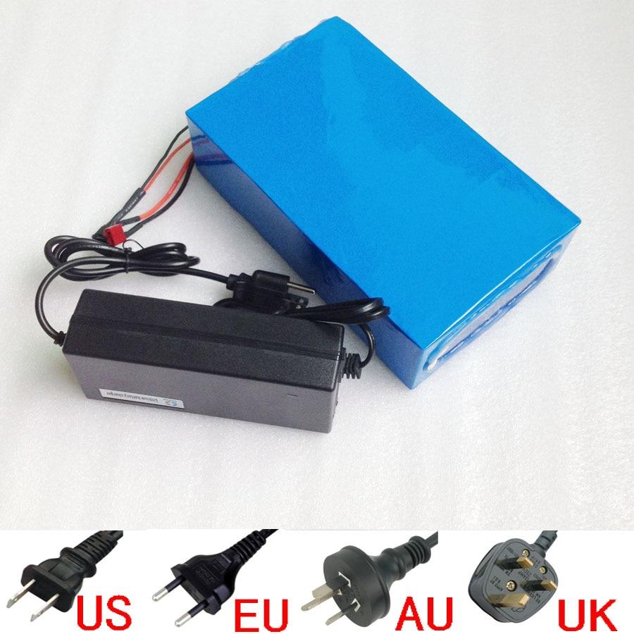 Skvělá lithium-iontová baterie s dobíjením 48 V, 24 W, 1 000 W, s nabíječkou na PVC a BMS pro články Sanyo 3400mah