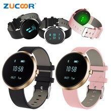 Zucoor V06 смарт-наручные часы Приборы для измерения артериального давления heartrate Браслет Жизнь Водонепроницаемый часы наручные часы для IOS Android PK ID107 A9