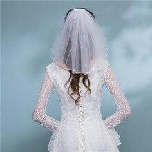 Низкая Цена Дешевые Простые Маленькие Мини Короткие Фаты Один Слой Длина Плеча Свадебные Для Женщины Белый Слоновая Кость 2019 Весна
