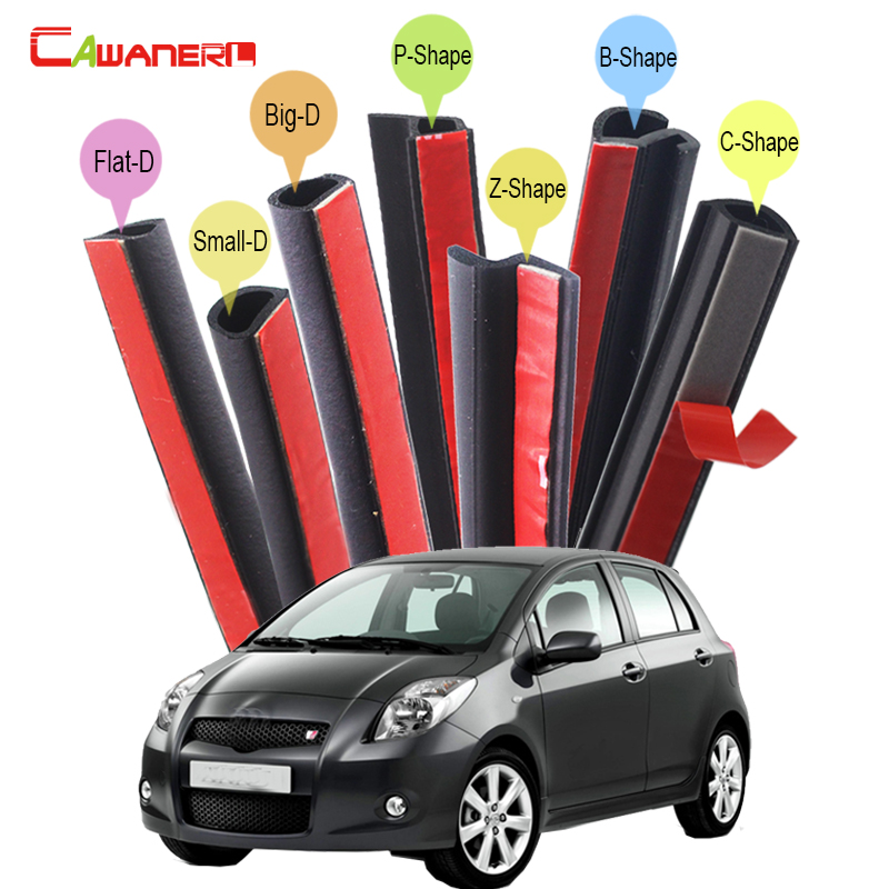 Cawanerl For Toyota Levin Yaris Prius Avensis Aygo Car Rubber Seal Edge Trim Sealing Seal Strip Kit Weatherstrip Noise Control cawanerl for peugeot 407 408 508 607 301 car accessories seal edge trim weatherstrip rubber sealing strip kit noise control