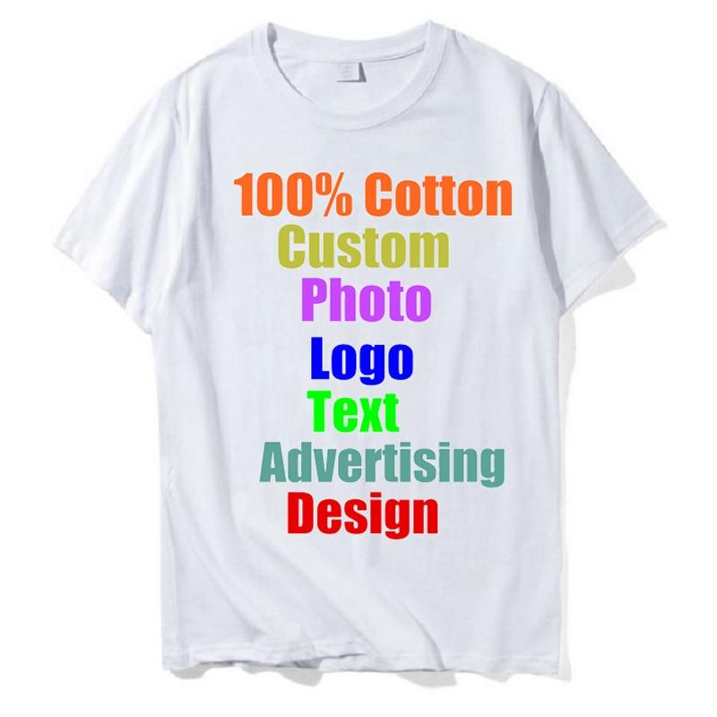 High Quality 2018 advertising Brand Design Custom Logo Printed Mens   T     Shirt   MAN Unisex Clothes Loose Straight Tops Tee   Shirts