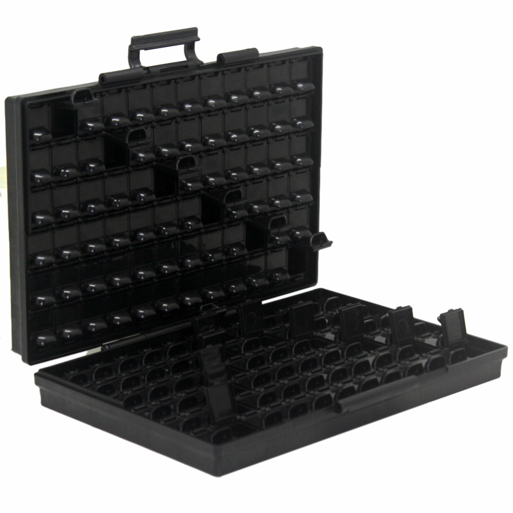 AideTek ESD Safe SMD Storage IC Box Bins Antiestáticos SMT Organizer - Almacenamiento de herramientas - foto 4
