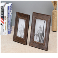 6 7inch European Retro Handmade Wood Photo Frame Set Wall Picture Album Wall Frame Home Decor