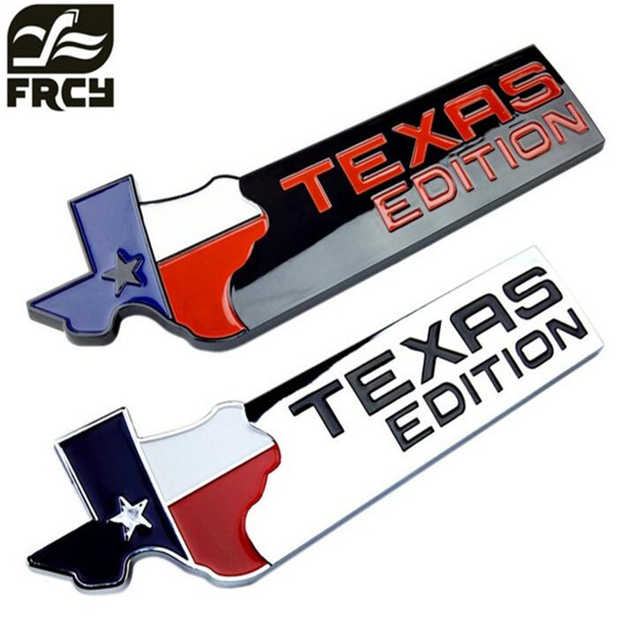 Car styling chrome finish 3d texas edition emblem badges for ford f 150 f