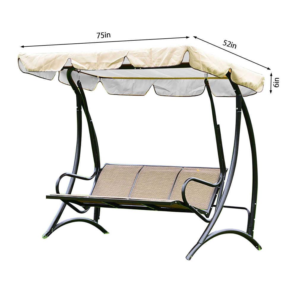 Летняя водонепроницаемая верхняя крышка сада качели навес замена для двора качели кресло-гамак качели с тентом стул тент