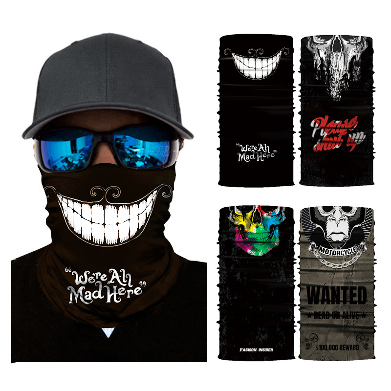 Magic Headwear Flower Print Outdoor Scarf Headbands Bandana Mask Neck Gaiter Head Wrap Mask Sweatband
