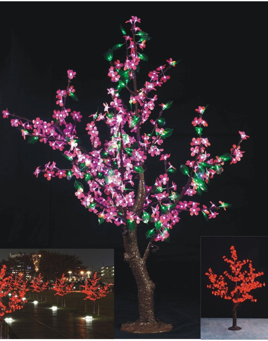 1.5M 5ft LED Simulation Cherry Blossom tree Light outdoor Christmas Wedding Holiday birthday Light Decor 480 LEDs waterproof led battery plum blossom flower tree night light adjustable waterproof atmosphere decorative lamp bedroom wedding holiday light