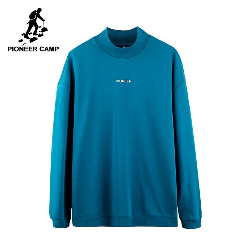 Пионерский лагерь новый дизайн водолазка спортивный костюм брендовая мужская одежда простая повседневная толстовка мужской качество толс...