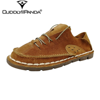SexeMara Brand 2016 Japan Style Genuine Leather Men Casual Shoes Vintage Retro Pure Hand Made Sewing