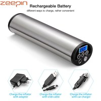 ZEEPIN 150 PSI Rechargeable Electric Compressor 12V Air Compressor Car Tyre Inflator With Pressure Gauge LED For Bicycle Airbed