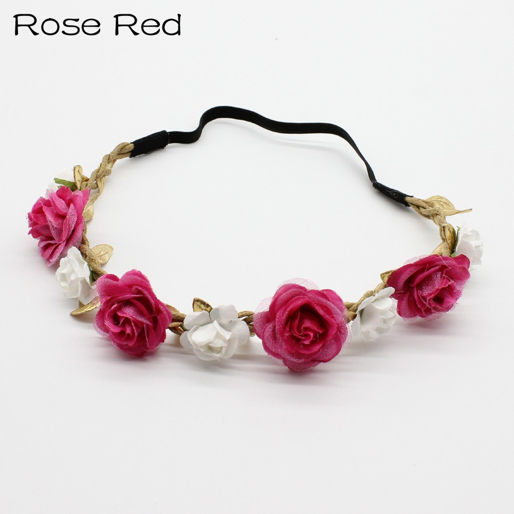 1pc cute rose flower hairband wedding party floral girl crown wreath 1pc cute rose flower hairband wedding party floral girl crown wreath headwear headband hair band accessories in hair accessories from mother kids on izmirmasajfo