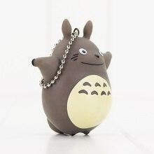 7cm My Neighbor Totoro Pendant Keychain Cute Smile Totoro Hayao Miyazaki Anime Toy Mini Model Dolls
