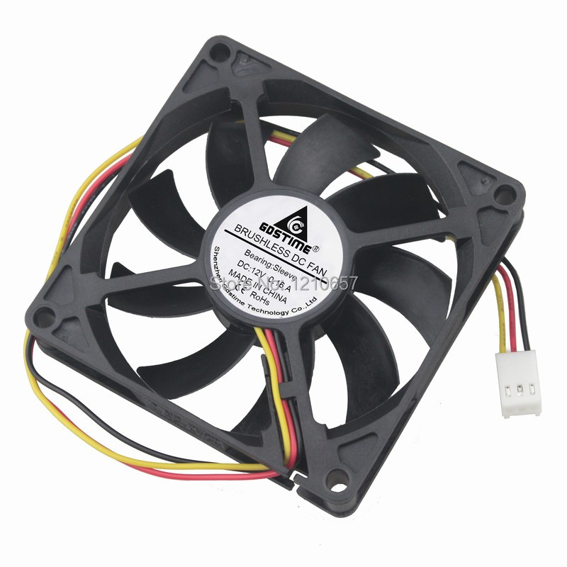 1 Pieces Gdstime 8015s 80MM 80 x 80 x 15MM 3Pin 12V DC Cooler Cooling Heatsink Fan gdstime 10 pcs dc 12v 14025 pc case cooling fan 140mm x 25mm 14cm 2 wire 2pin connector computer 140x140x25mm