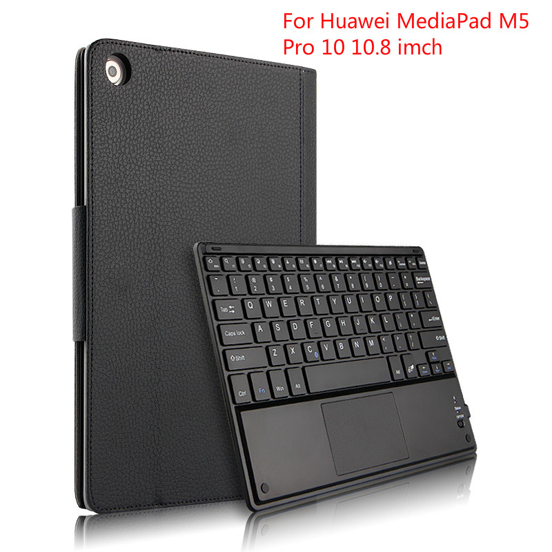 Case for Huawei MediaPad M5 Pro 10 10.8 inch Bluetooth Keyboard Protective PU Leather Cover case for CMR W19 CMR AL19 Tablet-in Tablets & e-Books Case from Computer & Office    1