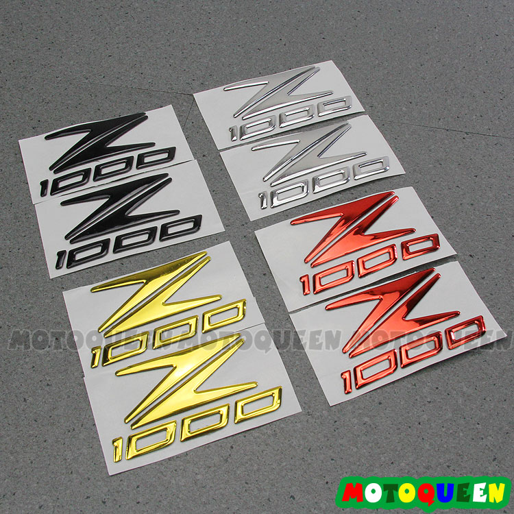 4 Color Motor Body Sticker Decals Case For KAWASAKI Z1000 Logo Z1000 Motorcycle Body Shell Stickers 3D Decal Sticker Emblem