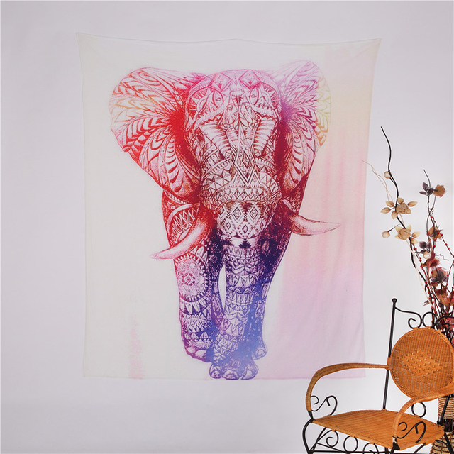 Indian Elephant Tapestry Hippie Wall Hanging Tapestry Colored ...