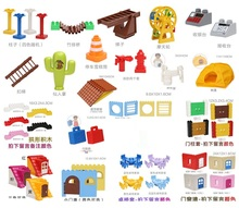 LEPIN duplo set minifigures figures duplo house farm building blocks original animal duplo kids educational toys for 3 year olds