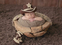 Baby Cowboy Boots Outfit Newborn Photo Prop Birth Photo Prop Baby Cowboy Hat Cowboy Hat