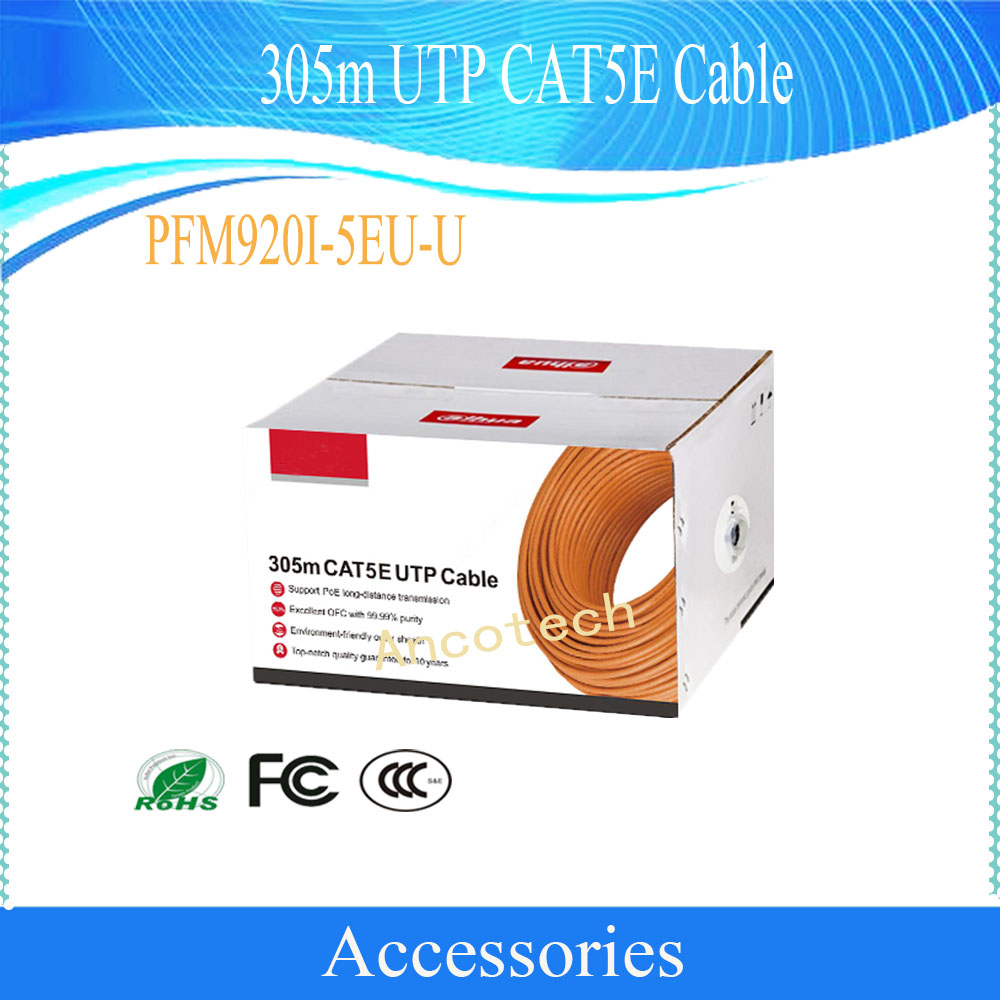 Security Cable 305m Utp Cat5e Support Poe Long Distance Wire Diagram Transmission Cctv Accessories Without Logo Pfm920i 5eu U In Cables From