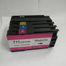 1 компл. для HP 711 Картриджи с чернилами HP 711 Designjet T520 T120 для HP T120 T520 принтер Полный чернил