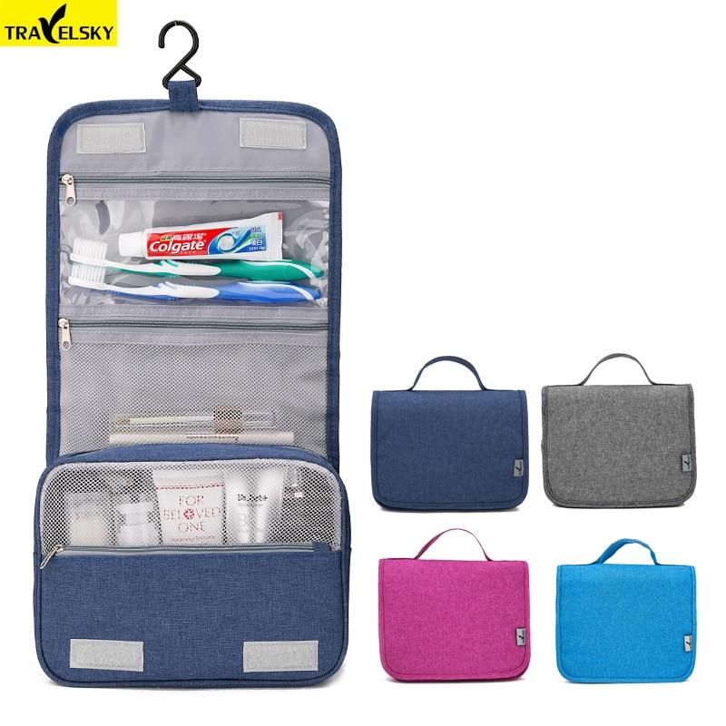 Travelsky New Large Travel Organizer Women Portable Waterproof Makeup Cosmetic Bag Men Toilet Hanging Storage Bags Make Up Kit