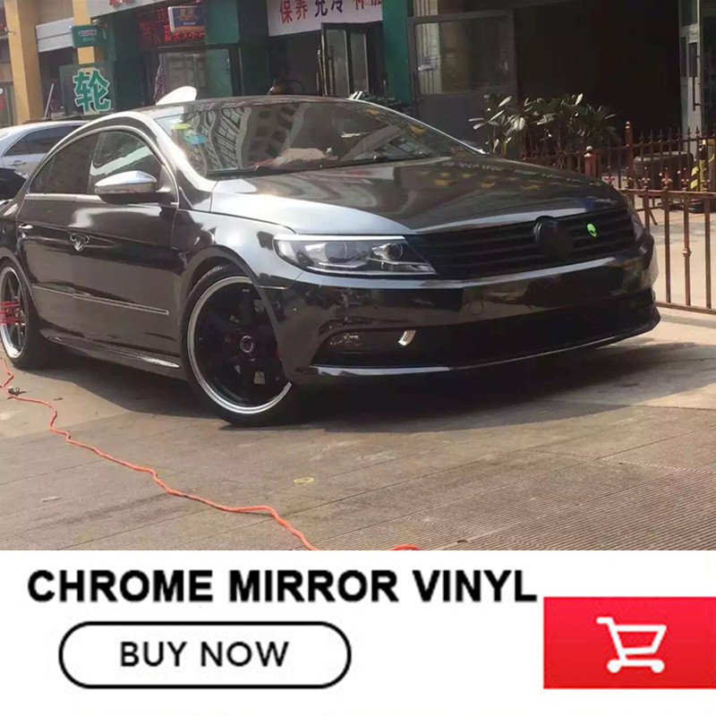 High Gloss Black grey Chrome Vinyl Wrap For Car Wrapping Sticker Film Air Bubble Free Size:1.52*20M/Roll quality guarantee silver chrome vinyl film for car wrapping sticker with air bubble free 20m roll