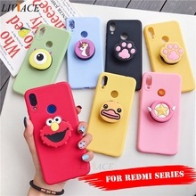 3D silicone cartoon phone holder case for xiaomi