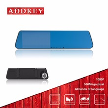 "ADDKEY 5"" inch dvr car camera rearview mirror auto dvrs cars dvr dual lens recorder video dash cam full hd 1080p night vision"