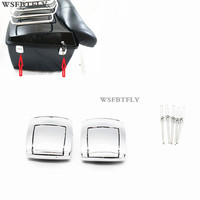 New Motorcycle Lock Set Tour Pak Rear Trunk Latches For Harley Touring Electra Glide Road Glide