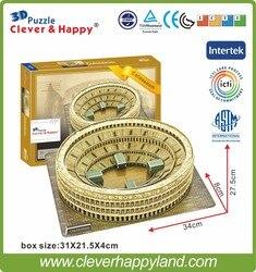 3d arquitectura rompecabezas modelo Coliseo (Italia) Plaza de Toros modelo de rompecabezas