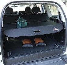 1 шт. черный Коврики для багажника Багажник автомобиля Шторы разделены блок Коврики для Toyota Prado 2010-2017 Ковры подкладке Коврики s кожа автомобиль-Стайлинг